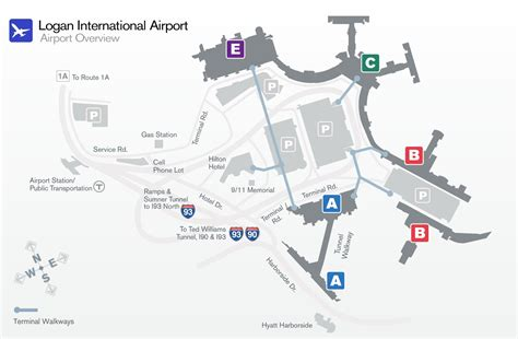 boston airport map image gallery logan airport terminals airlines