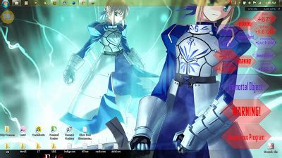 saber fate stay theme untuk windows 7 japanesse