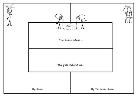 think pair template pdf think pair by teachelite teaching resources tes