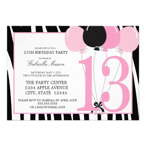 13th birthday invitations templates 13th birthday invitations for