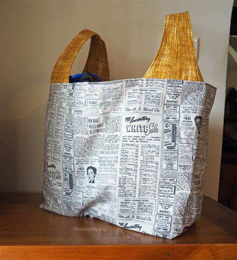 pattern for fabric grocery bags threading my way 25 off any purchase michelle patterns