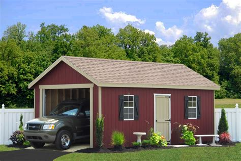 Single Car Garages | single car garages from sheds unlimited