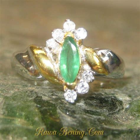 Cincin Silver Lapis Platinum Berlian Imitasi Batu Kuning Bulat cincin zamrud wanita ring 6us silver 925 harga promo