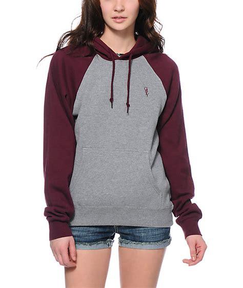 30726 Forever Maroon Flecee maroon hoodies womens tulips clothing