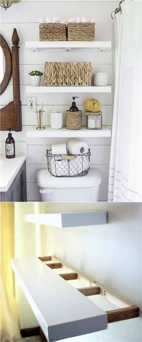 wall shelves bathroom 16 easy and stylish diy floating shelves wall shelves
