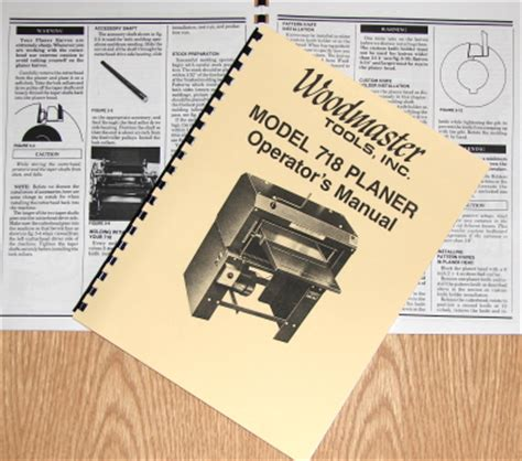 Woodmaster 718 Planer Operator Instruction Amp Part Manual