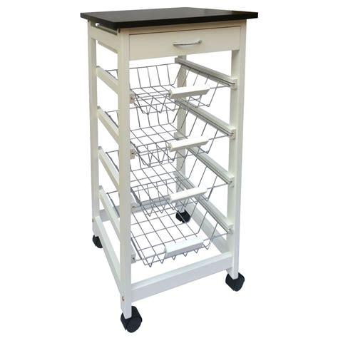 kitchen trolley storage 4 tier kitchen trolley white wooden cart basket storage