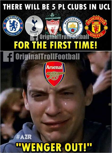 Football Memes Arsenal - 17 arsenal memes that will make you cringe daily cannon