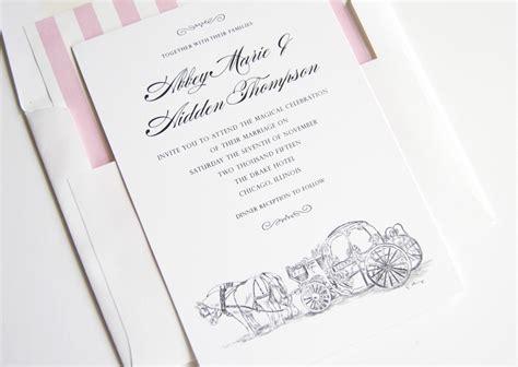 Wedding Invitations Disney by Disney Cinderella S Carriage Fairytale Wedding Invitations