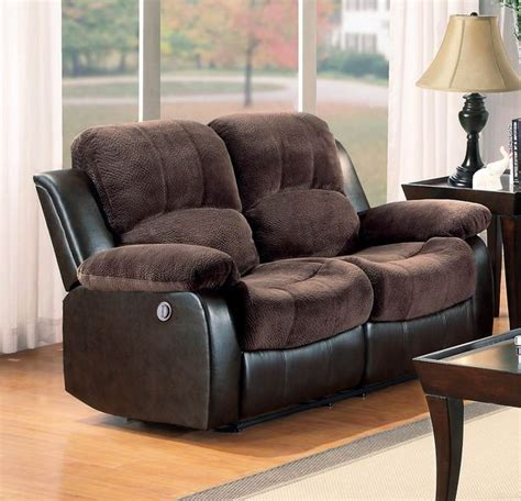 homelegance cranley reclining brown leather sofa and loveseat set homelegance cranley power recliner loveseat in chocolate