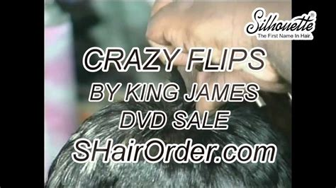 king james hair dvd hair styling crazy flips by king james youtube