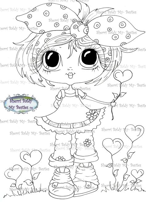 sherri baldy my besties adorable lil monsters coloring book 2 books instant digital digi sts big eye big