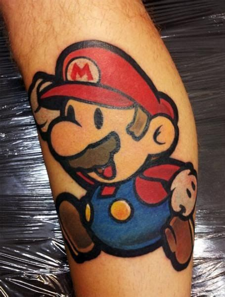 spilled ink tattoo by spilled ink mario mario