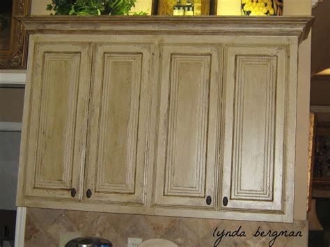 Painting Kitchen Cabinets Distressed White Lynda Bergman Decorative Artisan Faux Quot Antique Copper Quot Metallic Gold Vent A With