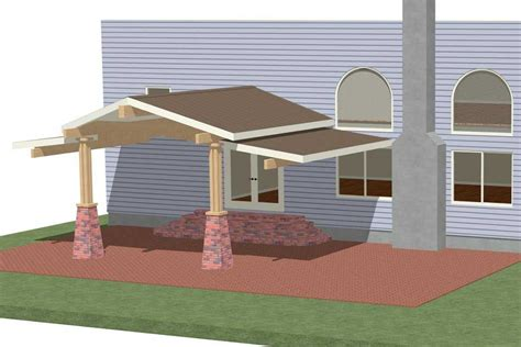 Patio Plans And Designs Patio Roofing Plans Building For House Backyard Homescorner