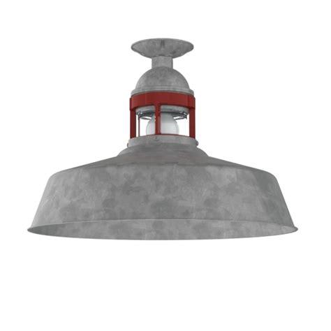 Sydney Industrial Flush Mount Pendant   Barn Light Electric