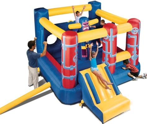 banzai bounce house banzai jump n go obstacle course inflatable bouncer
