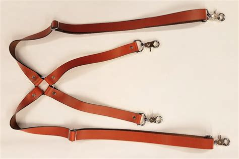 leather no stretch suspenders leather belts usa