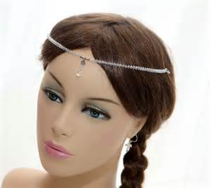 forehead headbands items similar to forehead headband tiara swarovski fore gemstones and