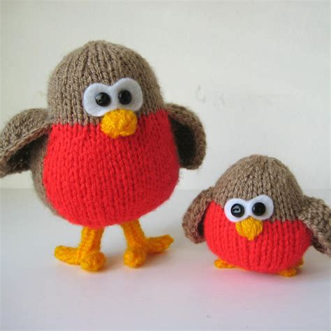 knitting pattern christmas robin rockin robins toy knitting patterns on luulla