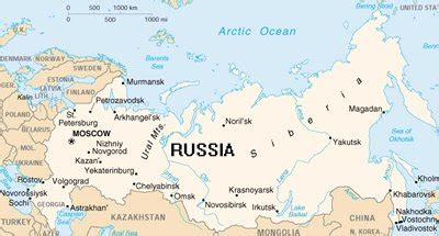 russia map with major cities geographierusse