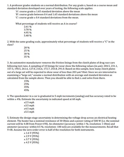 A Professor Grades Students On A Normal Distributi