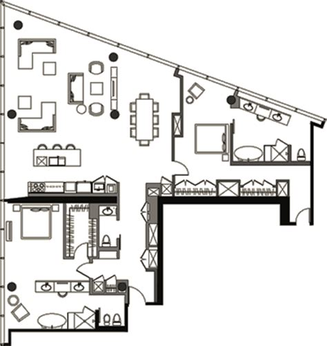 manhattan condos las vegas floor plans veer towers floor plan two bedroom penthouse vph 6 veer