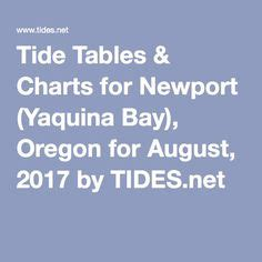 Tide Table Newport Or by Otter Marine Reserves And Rocks On