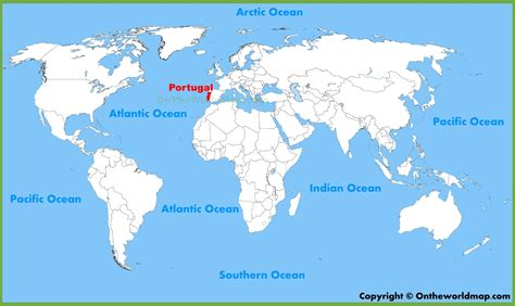 where is portugal located on the world map portugal location on the world map
