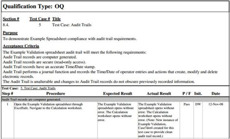 iq oq template validation plan template operational qualification fda