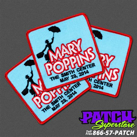 custom patches embroidered patches patchsuperstore the smith center custom mary poppins patch patchsuperstore
