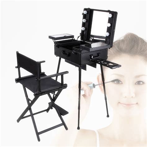 portable makeup chair melbourne free shipping to europe india uk 1set lot black