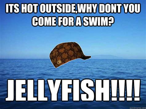 Its Hot Meme - its hot outside why dont you come for a swim jellyfish