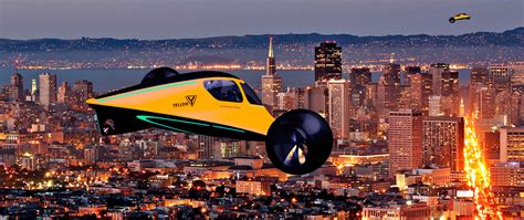 future  city travel flying car set  launch factor