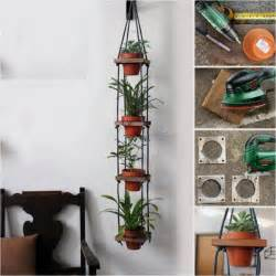 build a hanging plant stand plans diy free split