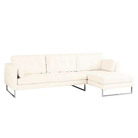 Paris Leather Right Hand Corner Sofa White Dwell White Corner Sofa Leather