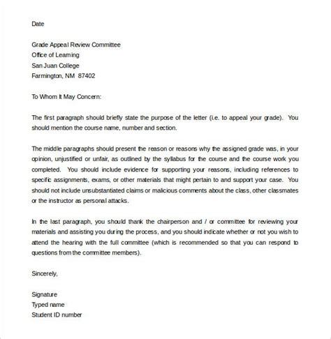 appeal letter templates premium