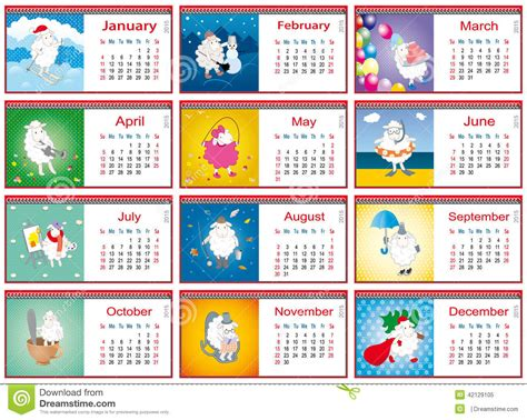 sle marketing calendar calendars for each month in 2015 with active sheep stock