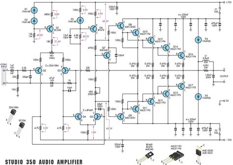 audio lifier circuit diagram with layout home audio lifier electronic circuit diagram and layout
