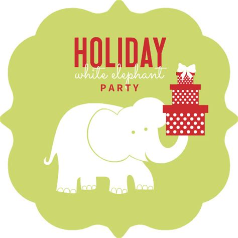 christmas themes for white elephant white elephant gift exchange clip art www imgkid com