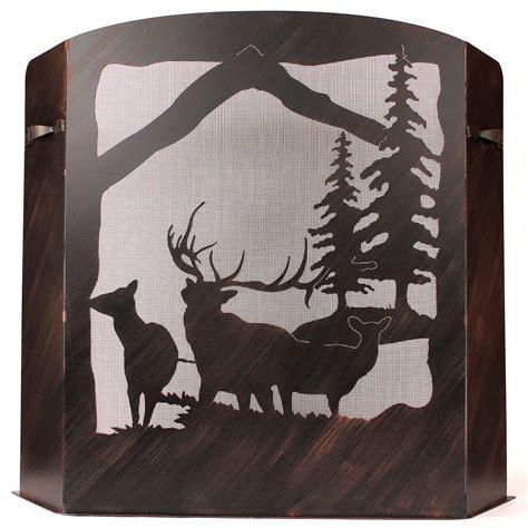 large fireplace screen large elk fireplace screen