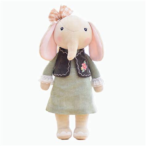 Metoo Tiramitu Angela Metoo Boneka Metoo New Angela Metoo Rabbit metoo elephant dolls dreaming wear cloth pattern skirt plush stuffed gift toys for