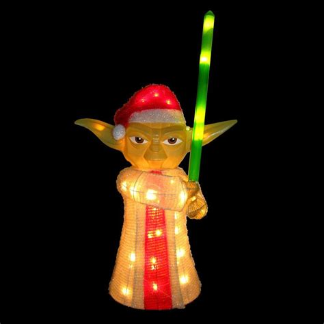 home depot star wars lights kurt s adler star wars yoda yard decor zhdusw9121 the