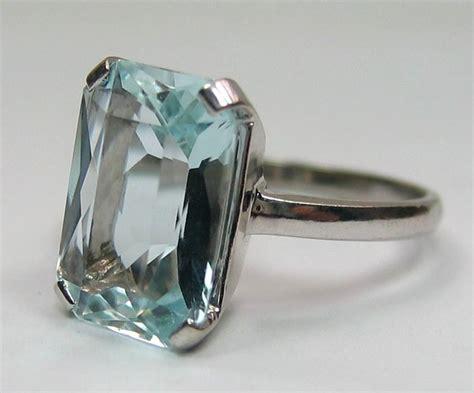 deco aquamarine rings vintage deco aquamarine ring rinky dink rings pretty clinky pin