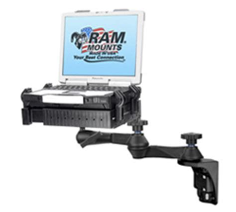 swing arm laptop holder ram 109v 234u ram mount universal vertical laptop mount w