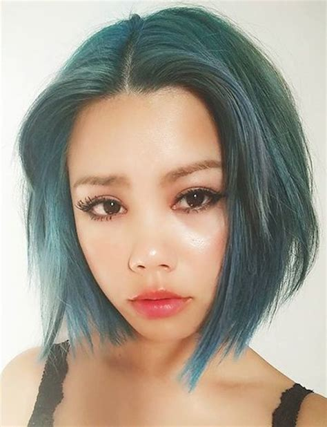 short haircuts with middle part best 25 color for short hair ideas on pinterest