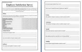 Words Template by Survey Template Word Cyberuse