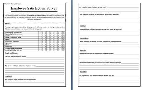 Questionnaire Template Microsoft Word Survey Word Excel Pdf Formats Free Printable Survey Template