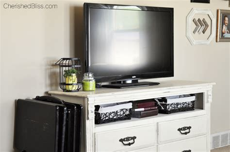 Turn Dresser Into Tv Stand by How To Turn A Dresser Into A Tv Stand Cherished Bliss