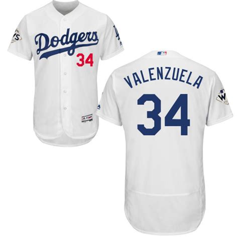 Jersey Baseball Dodgers 85 cheap dodgers 34 fernando valenzuela white flexbase authentic collection 2017 world series